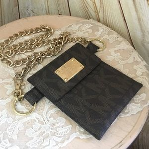 Small Michael Kors Gold Chain Fanny Pack HTF